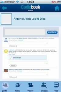 la nueva aplicacion de red social para iphone y android: cadizbook2