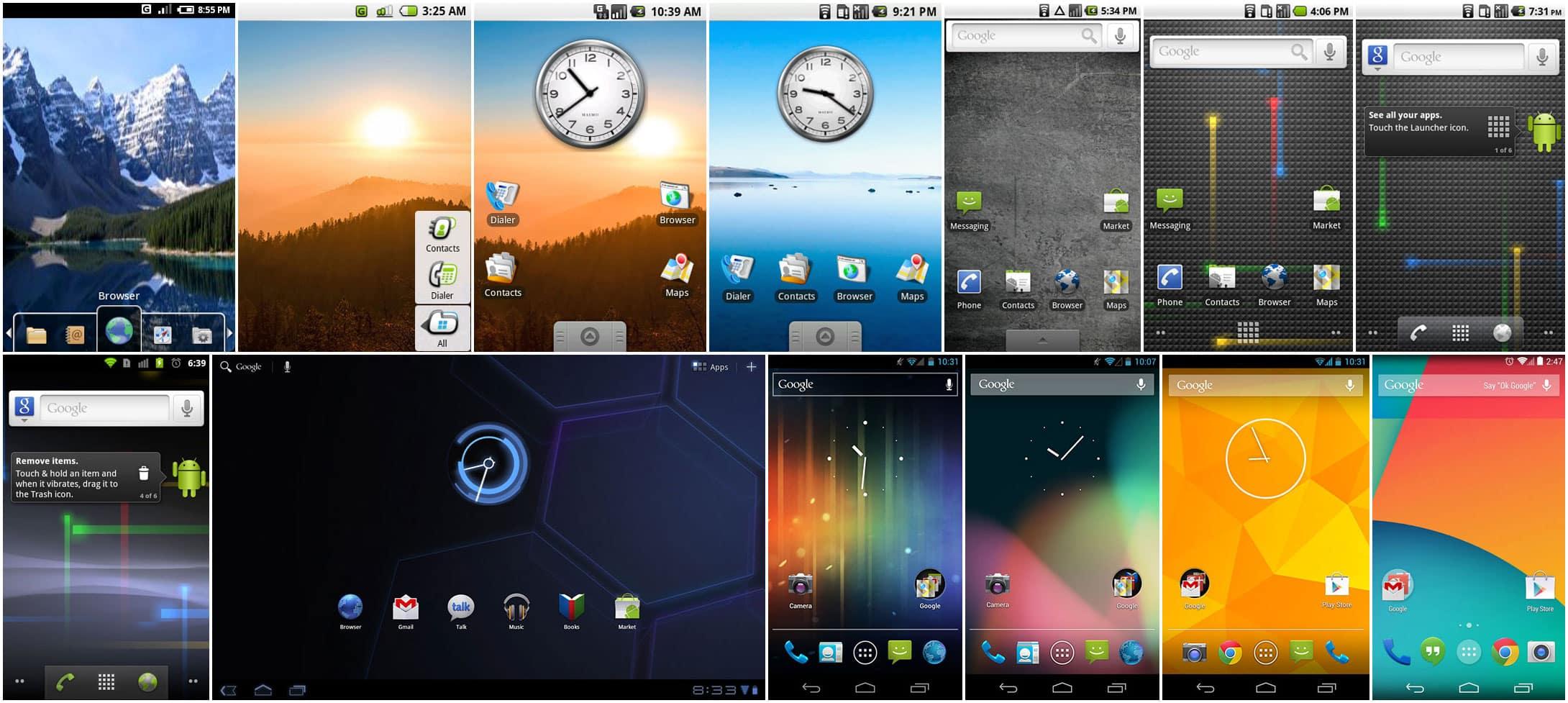 Evolución diseño Android