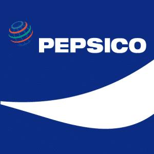 Icono en versión negativa del grupo Pepsico