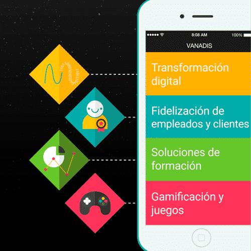 Gráfico de ejemplo de app desarrollada por Vanadis