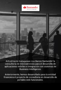 Consultoría Banco Santander