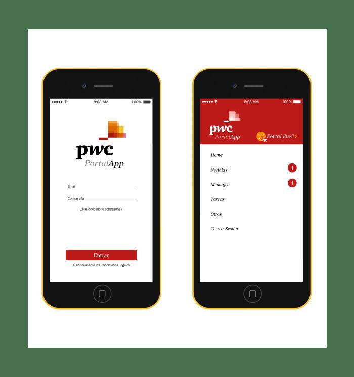 Ejemplo de la app para PWC