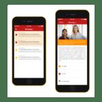 Captura de la app desarrollada para PWC