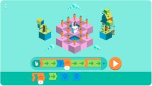 Captura de pantalla de un Doodle de Google