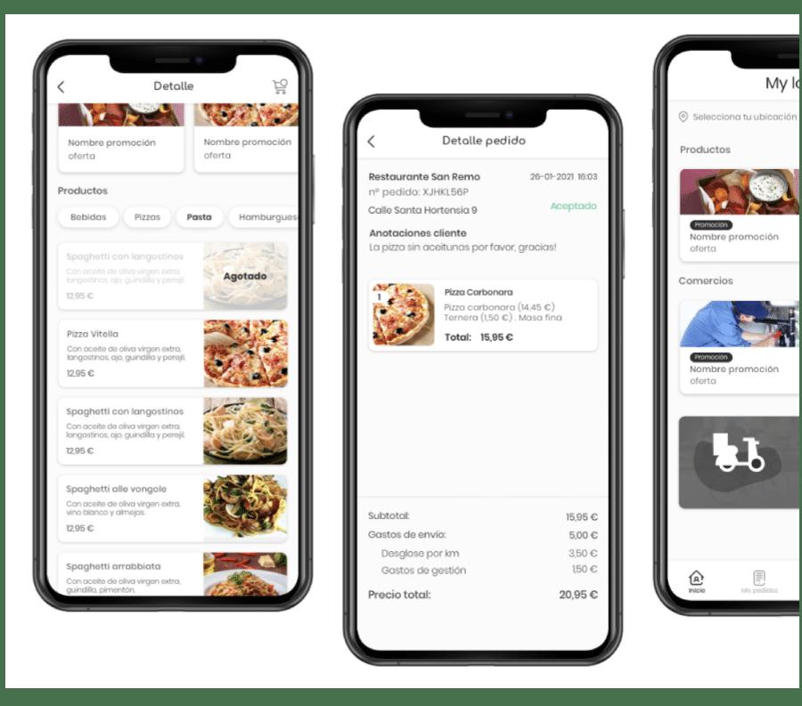 ejemplos apps delivery